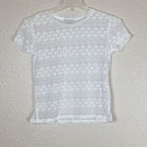 American Eagle Outfitters Lace White Women Blouse